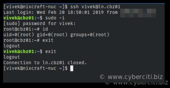 ssh restart system using reboot