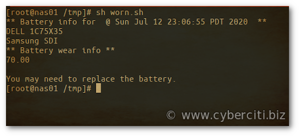 How to tell if your FreeBSD laptop battery is worn or not