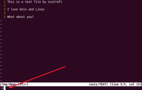 How to create a new file with vim - nixCraft