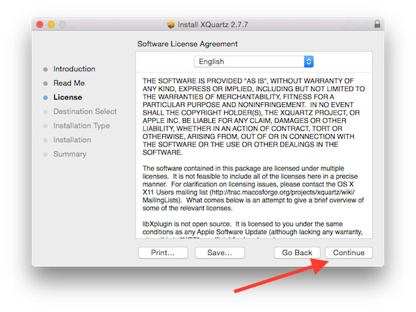 Apple OS X: Install X Window System XQuartz For SSH X11