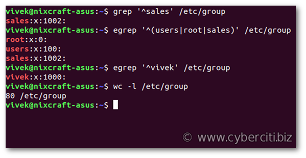 Linux display group names