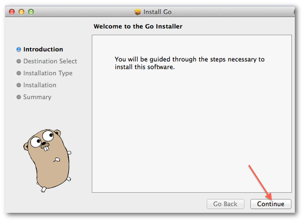 Golang install on OS X