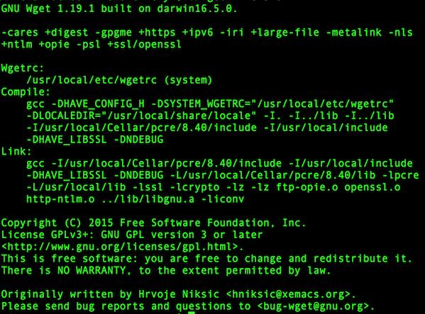 Mac OS X Sierra Install wget Network Downloader Utility - nixCraft