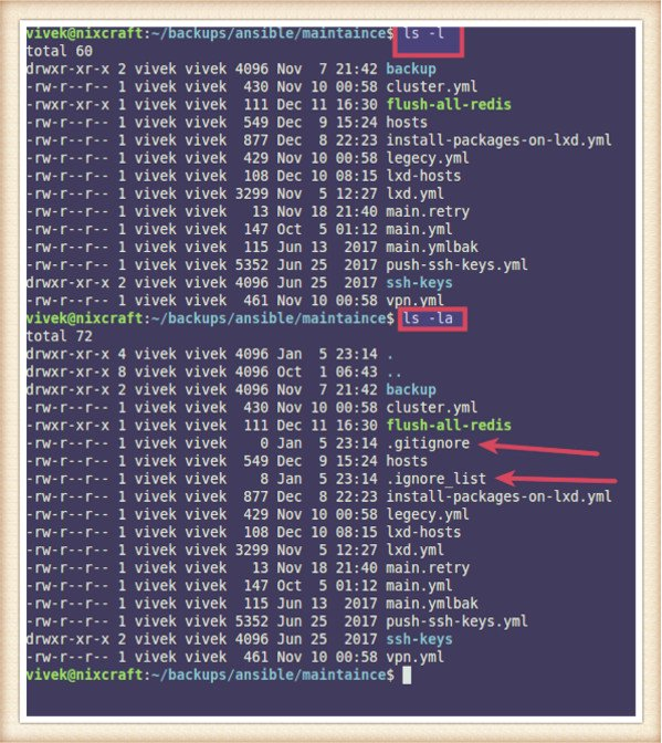 Unix Linux View Hidden Files