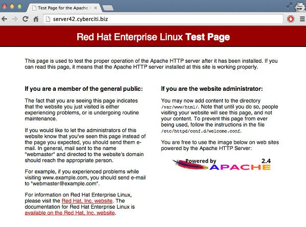 Fig.01: Check if Apache is Running on CentOS/RHEL 7 server