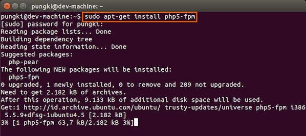 Fig.12: Install PHP for Server Side Processing on Ubuntu