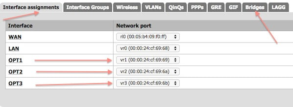 How To PFSense Configure Network Interface As A Bridge / Network
