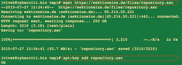 Fig.01: Installing key
