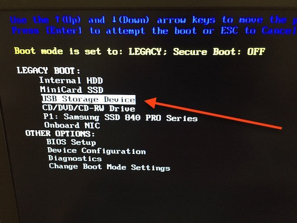 Fig.02: USB storage boot mode