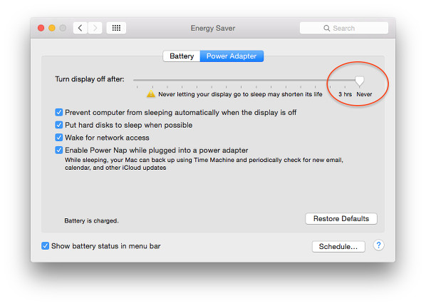 How to Prevent & Disable Mac OS X From Sleeping From the