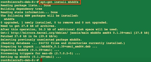Fig.02: Install mhddfs package