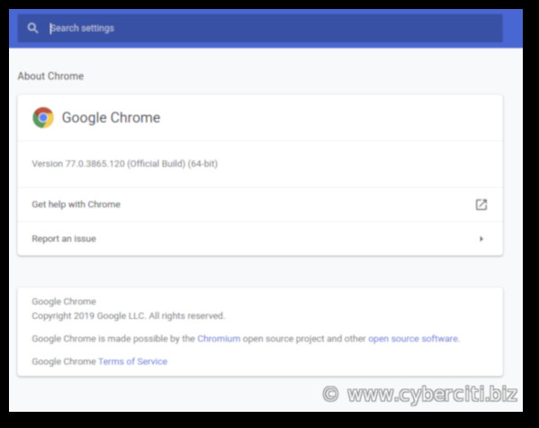 Google Chrome 77 in action on a Fedora Linux 30