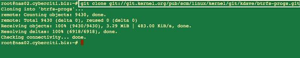 Fig.01: btrfs-progs git repository