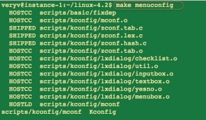 Fig.04: Starting menuconfig