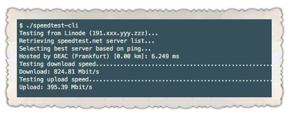 Fig.02: speedtest-cli in action