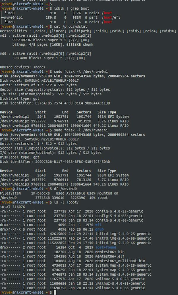 Cómo verificar la ruta de arranque (partición) en Linux