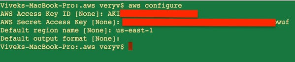 Fig.04: aws configure in action