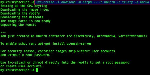 Fig.03: Create an Ubuntu container
