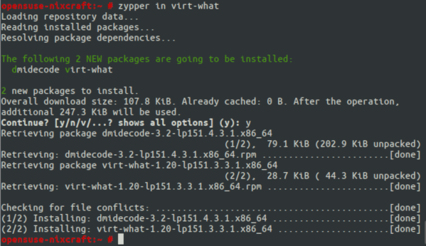 virt-what on opensuse Linux