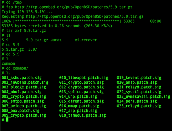 Fig.04. Download the OpenBSD 5.9 errata patch