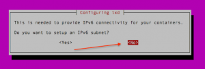 Setup IPv6 for the LXD