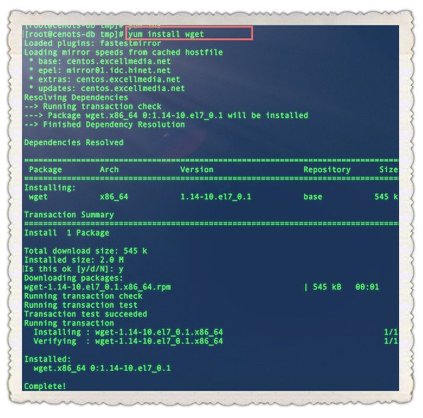 How to install wget on RHEL/CentOS 6/7/8 using yum - nixCraft