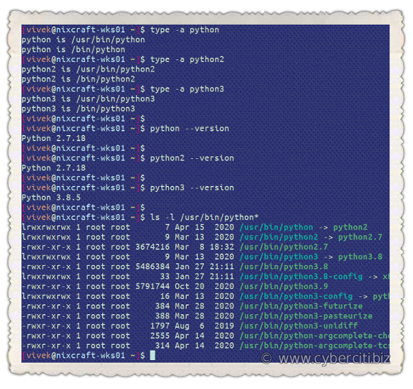 Python version on Ubuntu Linux