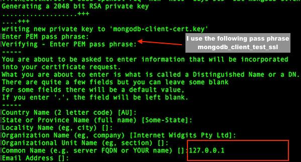 Fig.04: MongoDB SSL setup client certificate