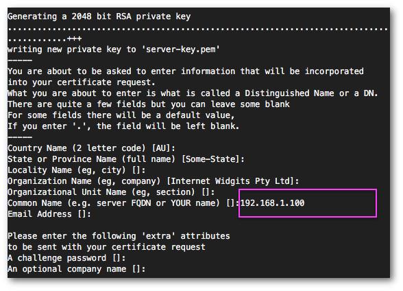 Fig.04: Create the server key for MariaDB server