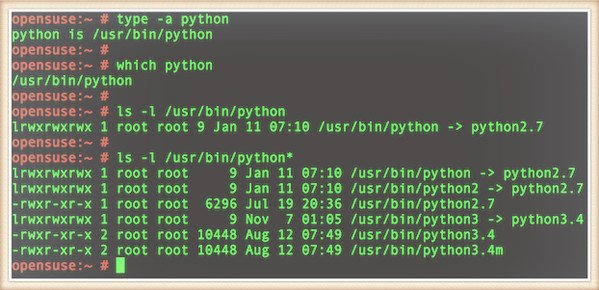 Fig.02: Python installed on my OpenSUSE Linux box