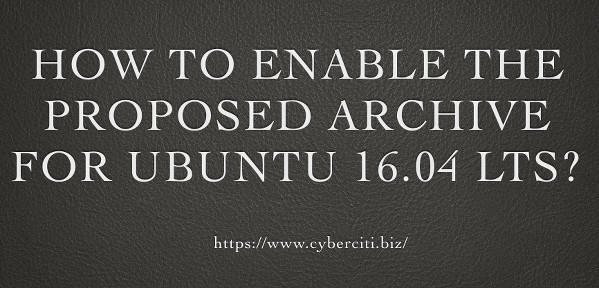 How to enable proposed archive for Ubuntu