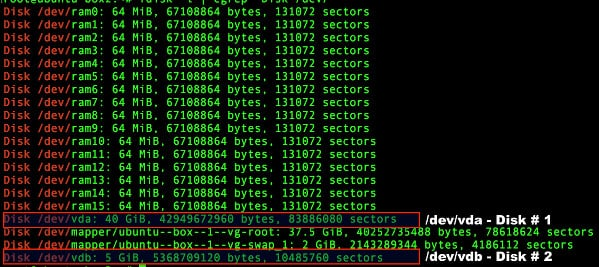 Fig.06: Find out installed disk names on Linux