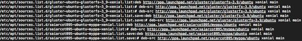 Fig.01: Ubuntu Linux list all installed PPAs command