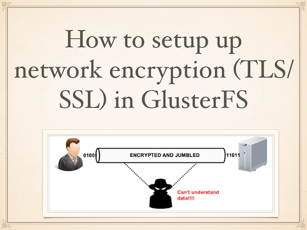 Fig.01: Using SSL with Glusterfs