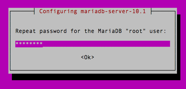 "Fig.04: Confirm the MariaDB ""root"" user password"