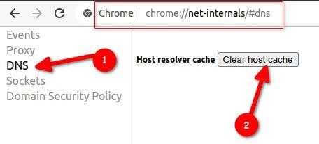 Google Chrome Flush DNS