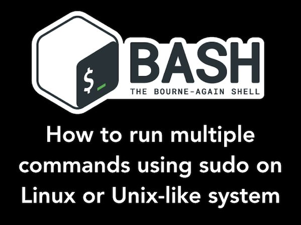 Fig.01: How to run two commands in sudo? How to run multiple commands in sudo?
