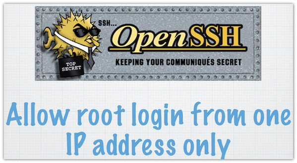 How to allow root login from one IP address with ssh public