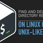 How to find and delete directory recursively on Linux or Unix-like system