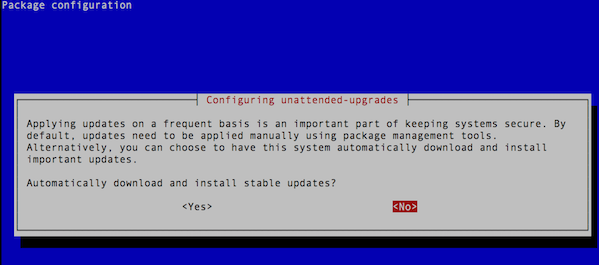 Fig.01 Activate unattended-upgrades using command line