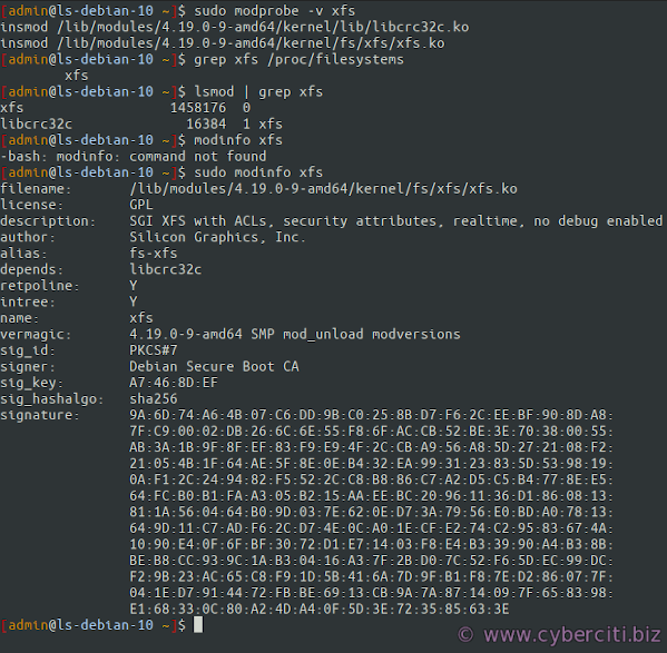 Install xfs and create xfs file system on Debian or Ubuntu Linux verification
