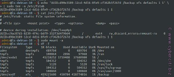 Installing XFS & Creating XFS File System on Debian