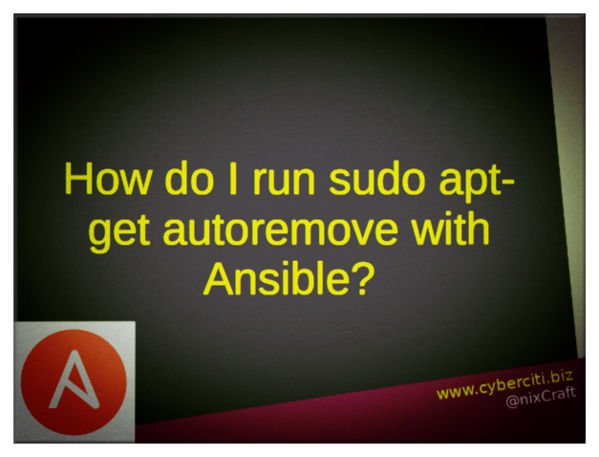 Is there a way to run sudo apt-get autoremove with ansible