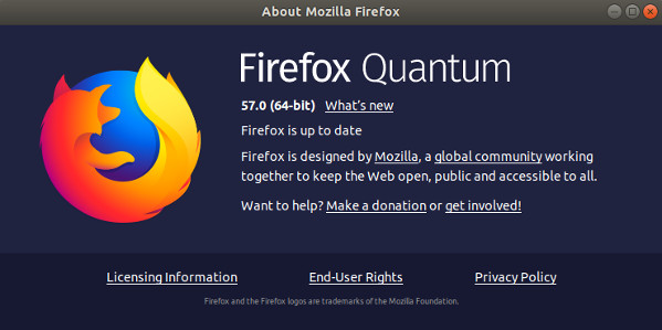 Fig.01: Firefox 57 in action