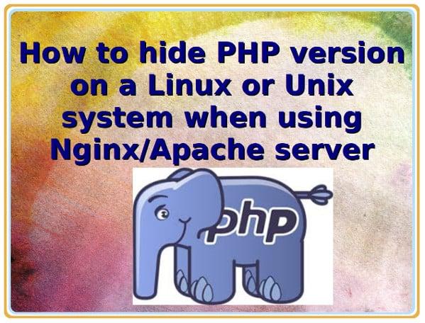 Hiding PHP version