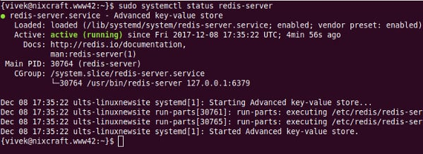 How to install Redis server on Ubuntu Linux 16 04 - nixCraft