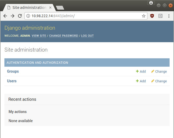Fig.06: The admin site in action