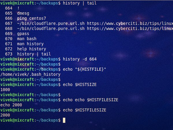How to disable bash shell history on Linux