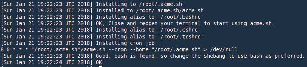 install acme.sh client on centos 7 or rhel 7
