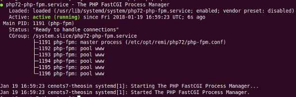systemctl status php72-php-fpm.service